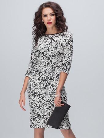 Jet: Платье Фортуна Цветок на черном 1094-5163 - главное фото