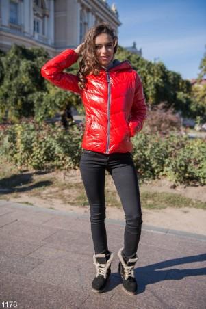 ISSA PLUS: Ярко-красная дутая куртка 1176_красный - главное фото