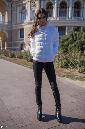 ISSA PLUS: Белая дутая куртка 1167_белый - главное фото