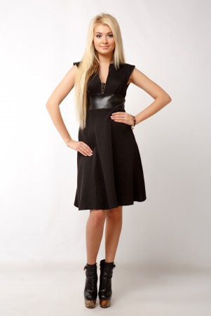 """InRed: Платье """"аэлита"""" Черное 7147 - главное фото"""