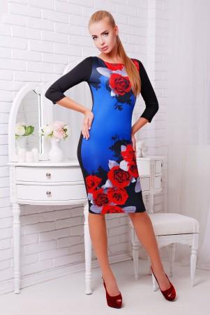 Glem: Платье Розы красные  Лоя-2 д/р - главное фото