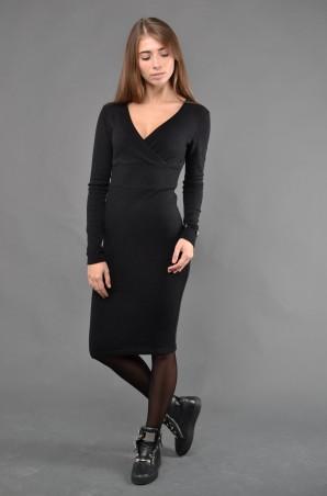 """TessDress: Стильное Женское Платье """"деми"""" Black 1222 - главное фото"""