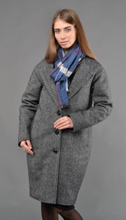 """TessDress: Стильное Женское Пальто """"диметра"""" Gray 3023 - главное фото"""