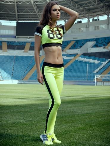 ISSA PLUS: Желтые спортивные штаны с черными лампасами 500_желтый - главное фото