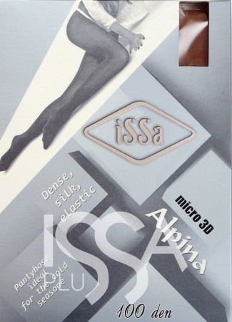 ISSA PLUS: Колготки Alpina 100 den серого цвета Alpina 100_fumo - главное фото