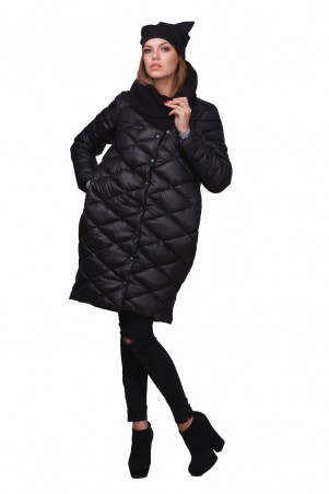 Lilo: Черная куртка пуховик 01728 - главное фото
