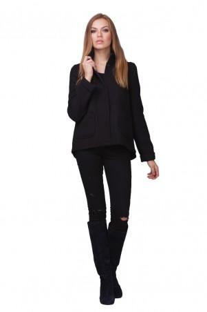 Lilo: Шерстяное черное короткое пальто-жакет 01804 - главное фото