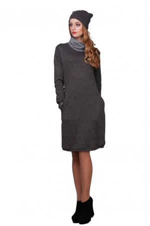 Lilo: Коричневое платье с горловиной с отворотом и вырезом на спине 01763 - главное фото