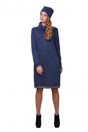 Lilo: Синее платье с отворотом на горловине и вырезом на спине 01766 - главное фото