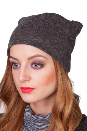 Lilo: Коричневая шапка из трикотажа 01829 - главное фото