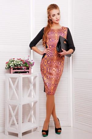 Glem: Платье Питон оранжевый  Саламандра д/р - главное фото