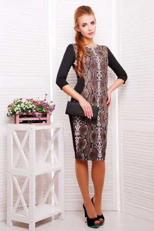 Glem: Платье Питон коричневый  Саламандра д/р - главное фото