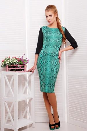 Glem: Платье Питон зеленый  Саламандра д/р - главное фото