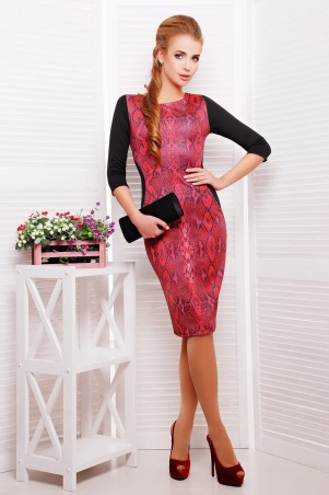 Glem: Платье Питон красный  Саламандра д/р - главное фото
