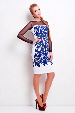 Glem: Платье Темно синие розы  Донна д/р - главное фото