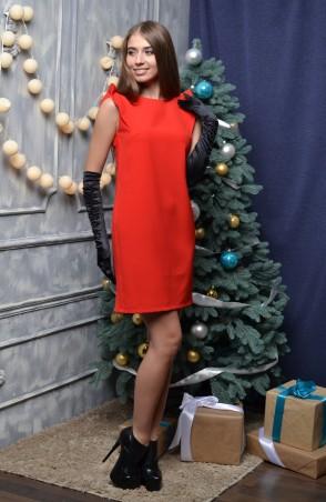 """TessDress: Нарядное женское платье """"Ангелина 2"""" red 1247 - главное фото"""