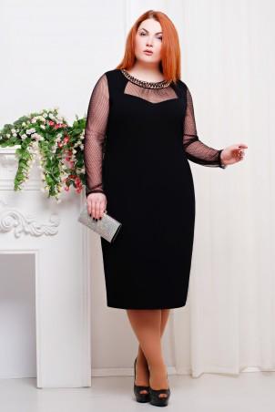 Tatiana: Платье c сеткой цвет черный Сюзет - главное фото