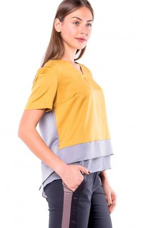 MR520 Women: Блуза MR 225 2102 1115 Gold - главное фото
