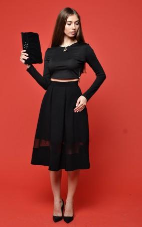"""TessDress: Женская юбка-миди с сеткой """"Альфа"""" 2058 - главное фото"""