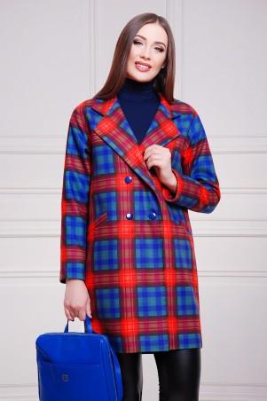 Glem: Пальто Клетка красно-фиолетовая  Сэмми2 - главное фото
