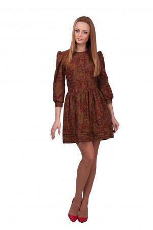 Lilo: Короткое платье-клеш в цветочный принт 01871 - главное фото