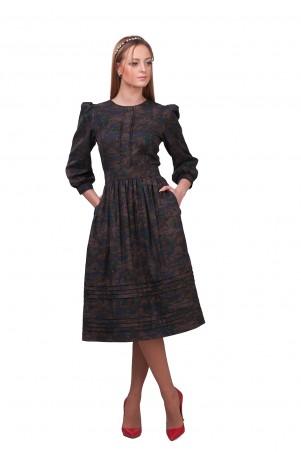 Lilo: Платье с юбкой-колокол длиной миди 01862 - главное фото