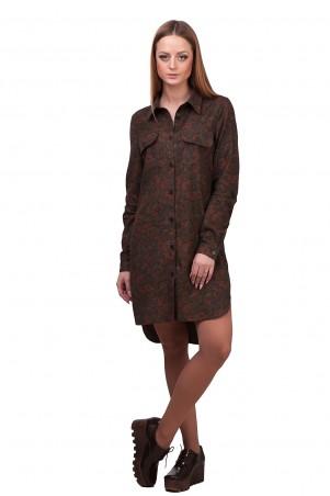 Lilo: Платье-рубашка в цветочный принт 01853 - главное фото