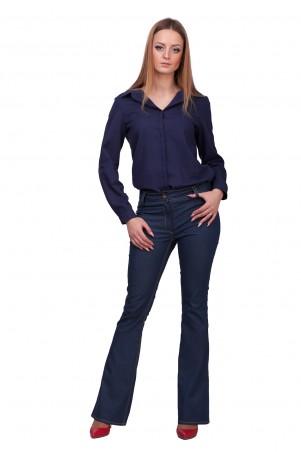 Lilo: Синие джинсы клеш от колена Lilo 01895 - главное фото