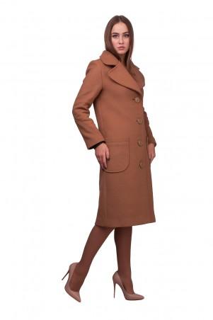 Lilo: Бежевое пальто до колен с подрезами Lilo 01889 - главное фото