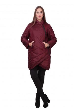 Lilo: Бордовая куртка-пуховик косуха Lilo 01881 - главное фото