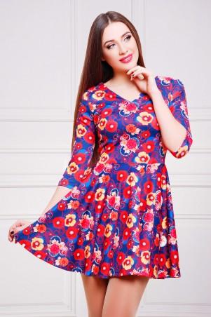 Glem: Платье Маки-синий  Мая д/р - главное фото