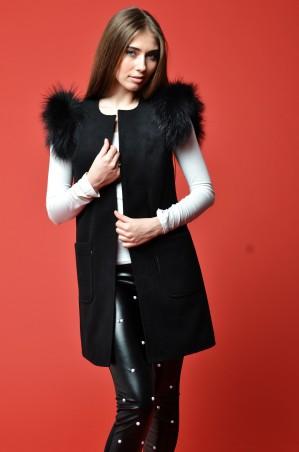 TessDress: Женский жилет из кашемира «Оникс» 3034 - главное фото