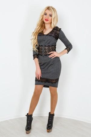 """InRed: Платье """"Мерайя"""" серое 7176 - главное фото"""