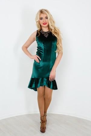 """InRed: Платье  изумрудное """"Бархат"""" 7171 - главное фото"""