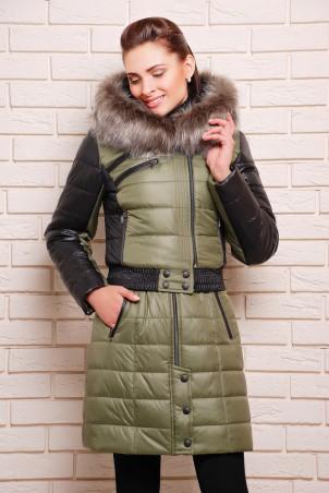 Vicco: Куртка зимняя AMELIA хаки 1700 - главное фото