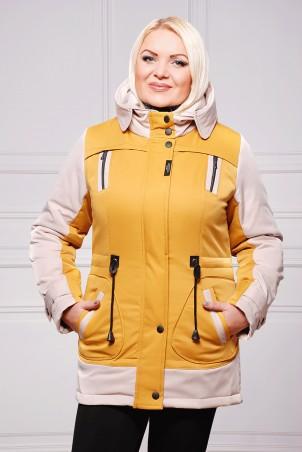 Vicco: Куртка ZLATA (цвет горчица/беж) 2739 - главное фото