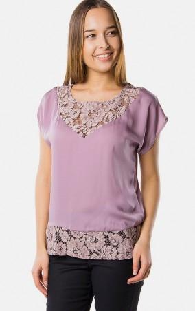 MR520 Women: Блуза с гипюровыми вставками MR 215 2162 0316 Tea Rose - главное фото