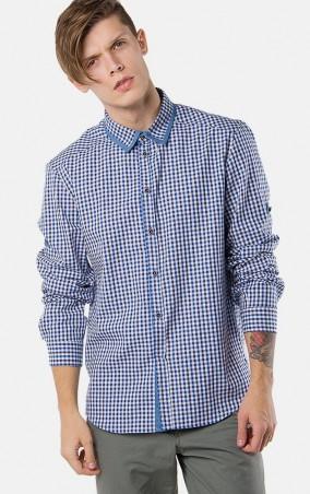 MR520 Men: Рубашка в клетку MR 123 1094 0216 Blue - главное фото