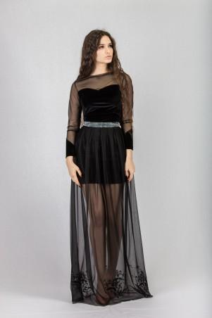 Salma: Платье Бархат-вуаль - главное фото