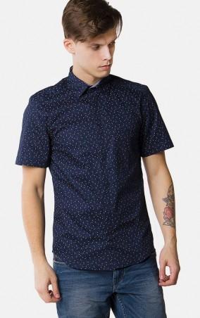 MR520 Men: Рубашка с принтом MR 123 1095 0216 Blue - главное фото