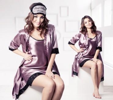 Champagne Sparkles: Ночная рубашка с кружевом 16125 - главное фото