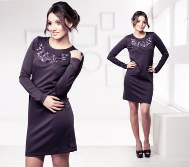 Champagne Sparkles: Платье с вышивкой «Маки» 16115 - главное фото