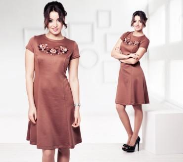 Champagne Sparkles: Платье с вышивкой «Розы» 16101 - главное фото