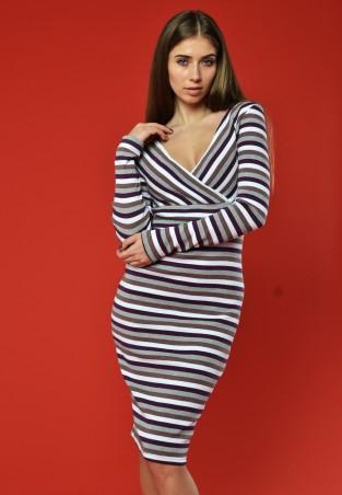 """TessDress: Женское платье  в полоску """"Деми"""" 1257 - главное фото"""