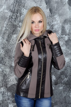 Vicco: Куртка ANET (коричневый/беж) 2766 - главное фото