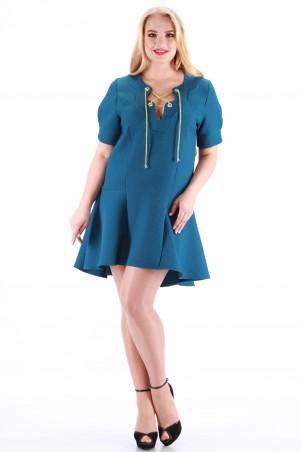 Alpama: Платье изумруд SO-13014-TRQ SO-13014-TRQ - главное фото