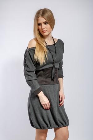 """InRed: Платье серое """"Дженна"""" 7179 - главное фото"""