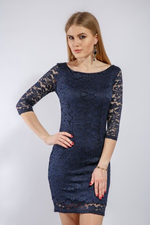 """InRed: Платье """"Sansa"""" синее 7165 - главное фото"""