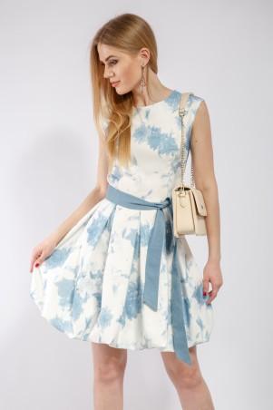 """InRed: Платье """"Cake"""" бело-голубое 7187 - главное фото"""