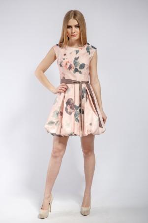 """Me&Me: Платье """"Cake"""" бежево-персиковое 7188 - главное фото"""
